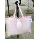 Sac tote bag M. 100% lin rose poudré