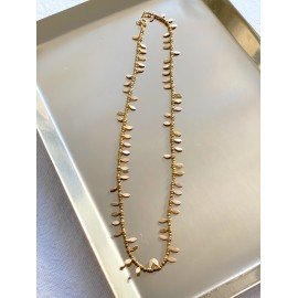 Collier Indiana pampilles et pyrites gold