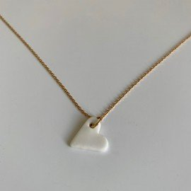 Collier Miss, Coeur blanc