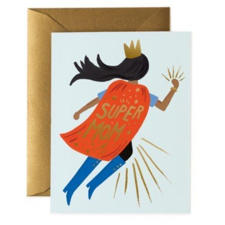 Carte - Super Mom, blue