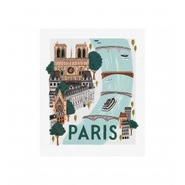 Affiche Paris world Traveller