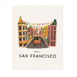 Affiche San Francisco world Traveller