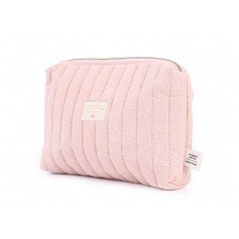 Trousse de toilette Travel white bubble/ misty pink