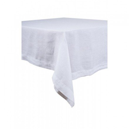 Chemin de table en lin 145 x 50 cm - Blanc