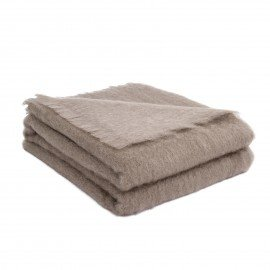 Plaid Mohair - Taupe