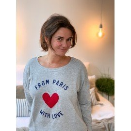"Sweat  ""From Paris with love""  - Gris"