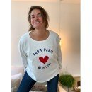 """Sweat Shirt """"From Paris with love""""  - Blanc"""
