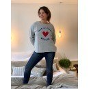 "Sweat Shirt ""From Le Perche with love""  - Gris"