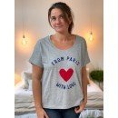 """T-Shirt  """"From Paris with love""""  - Gris"""