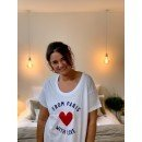 """T-Shirt """"From Paris with love""""  - Blanc"""