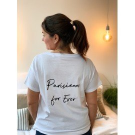 "T-Shirt  ""Parisienne for ever""  - Blanc"