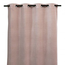 Rideau velours  rose 135x300