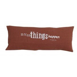 "Coussin ""Make things..."" -Ambre"