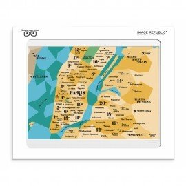 Affiche -Carte Paris sur New York