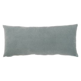 Coussin long en velours - sauge