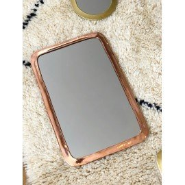 Le Minutieux, miroir rectangle en métal rosé