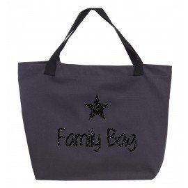 Sac cabas en toile gris Family bag