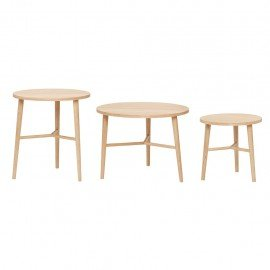 Table en bois Hubsch, S, M ou L