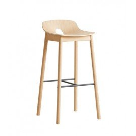Tabouret de bar Mono bois naturel